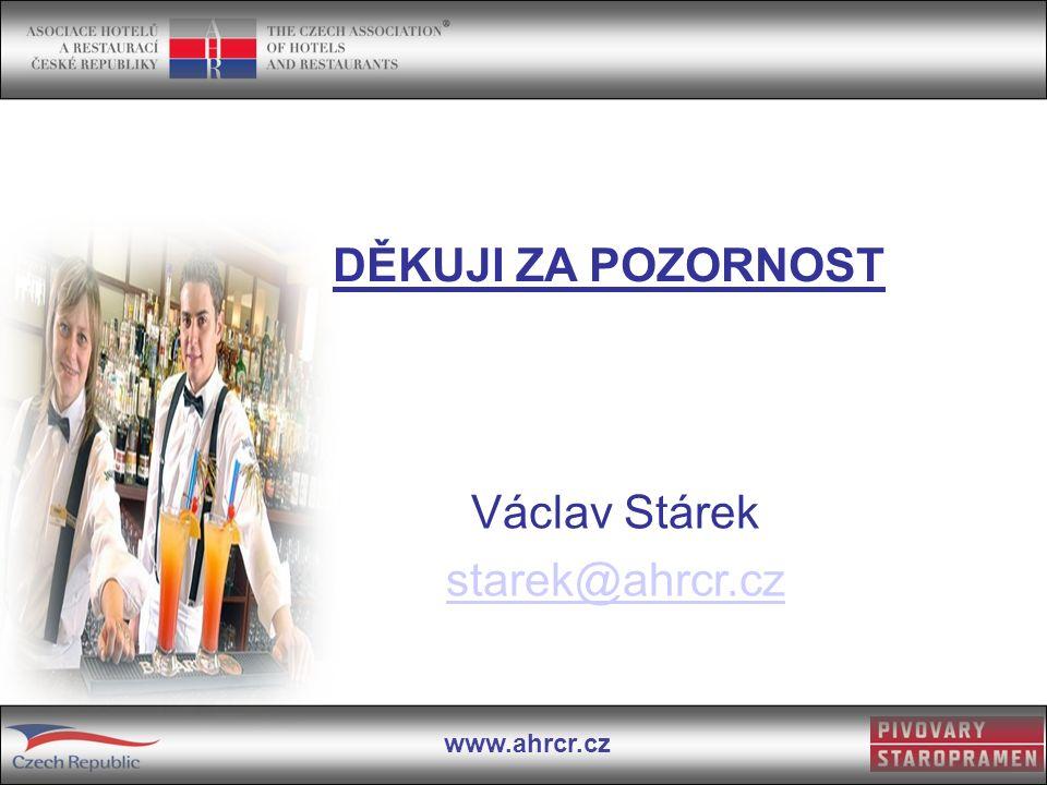 www.ahrcr.cz Václav Stárek starek@ahrcr.cz DĚKUJI ZA POZORNOST