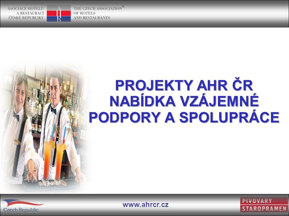 www.ahrcr.cz PROJEKTY AHR ČR NABÍDKA VZÁJEMNÉ PODPORY A SPOLUPRÁCE