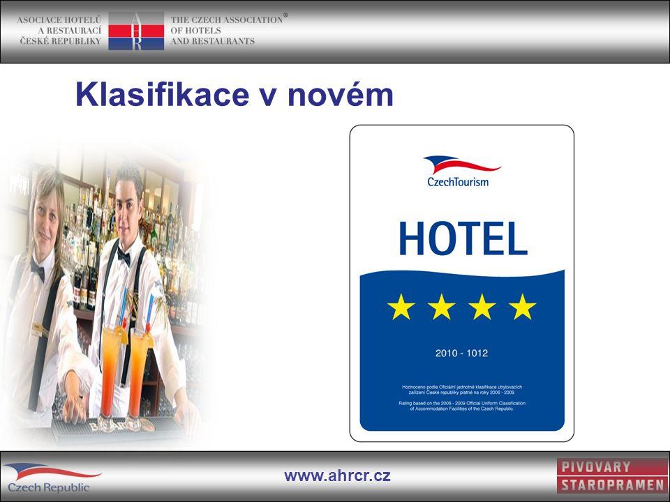 www.ahrcr.cz Klasifikace v novém