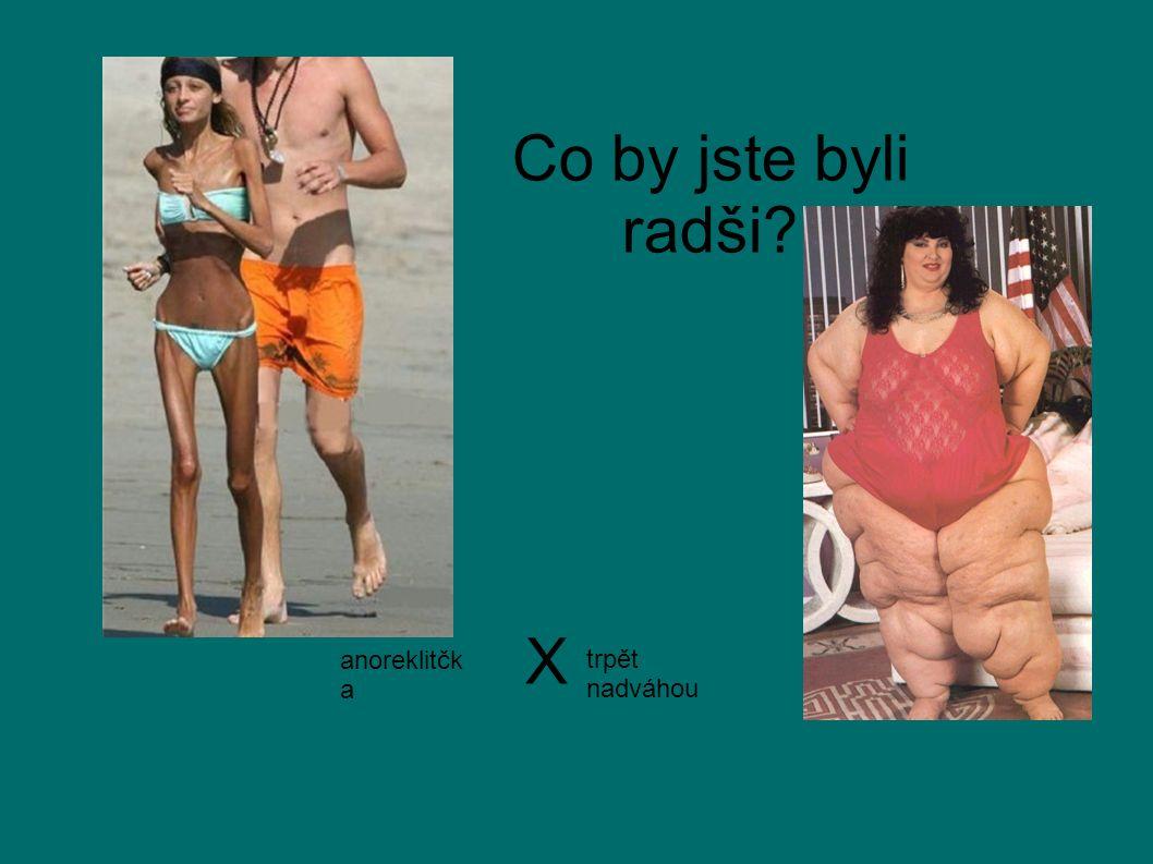 Co by jste byli radši? anoreklitčk a trpět nadváhou X