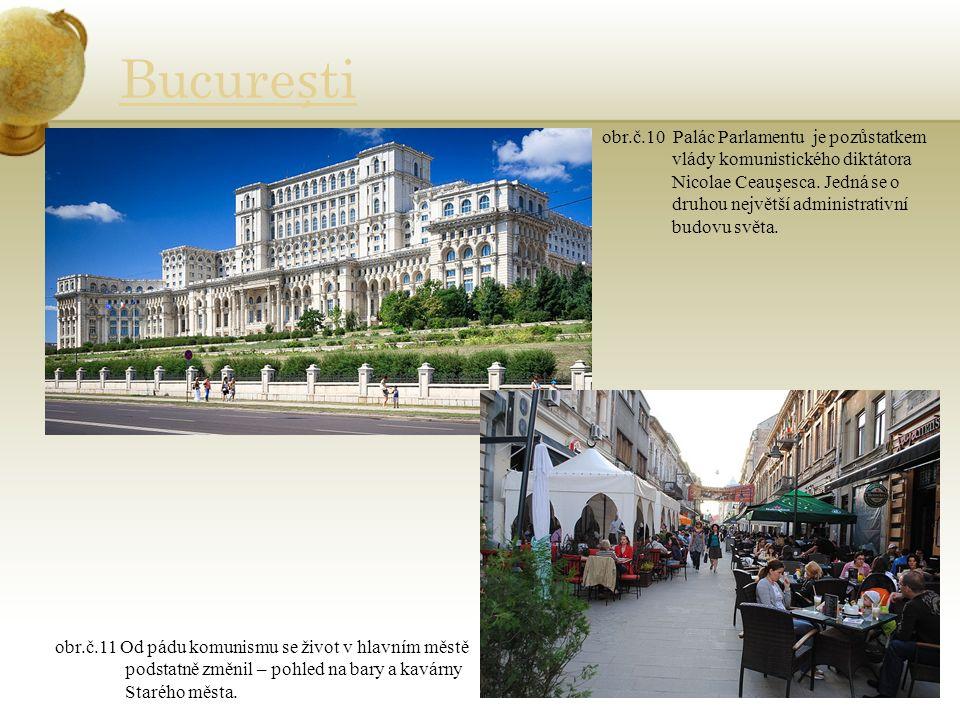 Bucureti obr.č.10 Palác Parlamentu je pozůstatkem vlády komunistického diktátora Nicolae Ceauşesca.