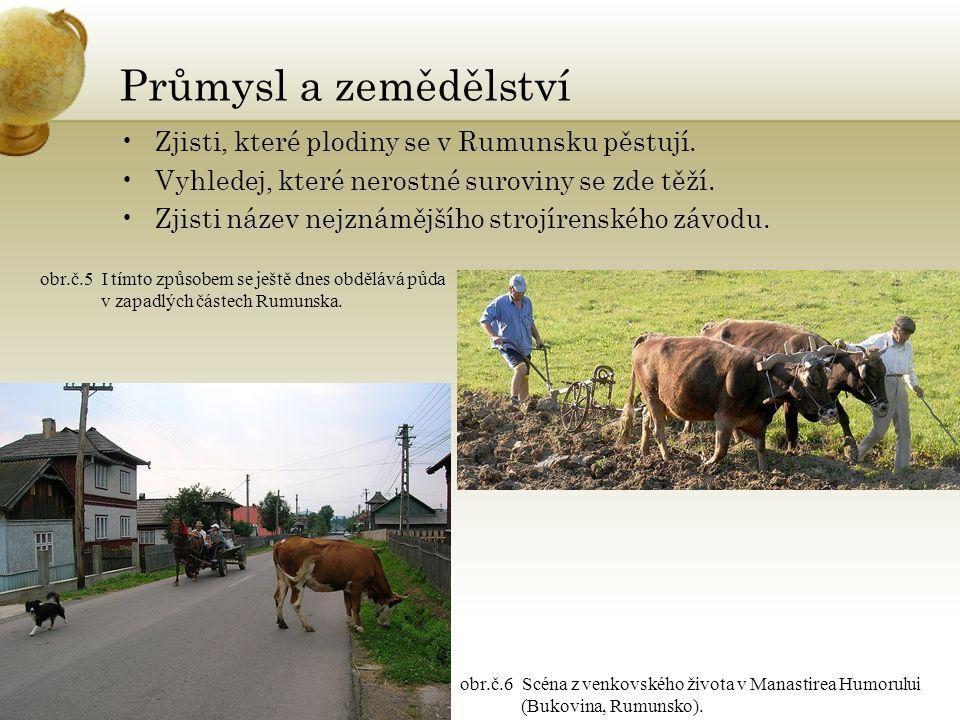 Průmysl a zemědělství Zjisti, které plodiny se v Rumunsku pěstují.