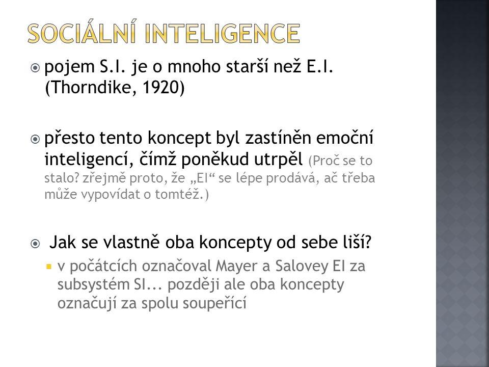 pojem S.I. je o mnoho starší než E.I.