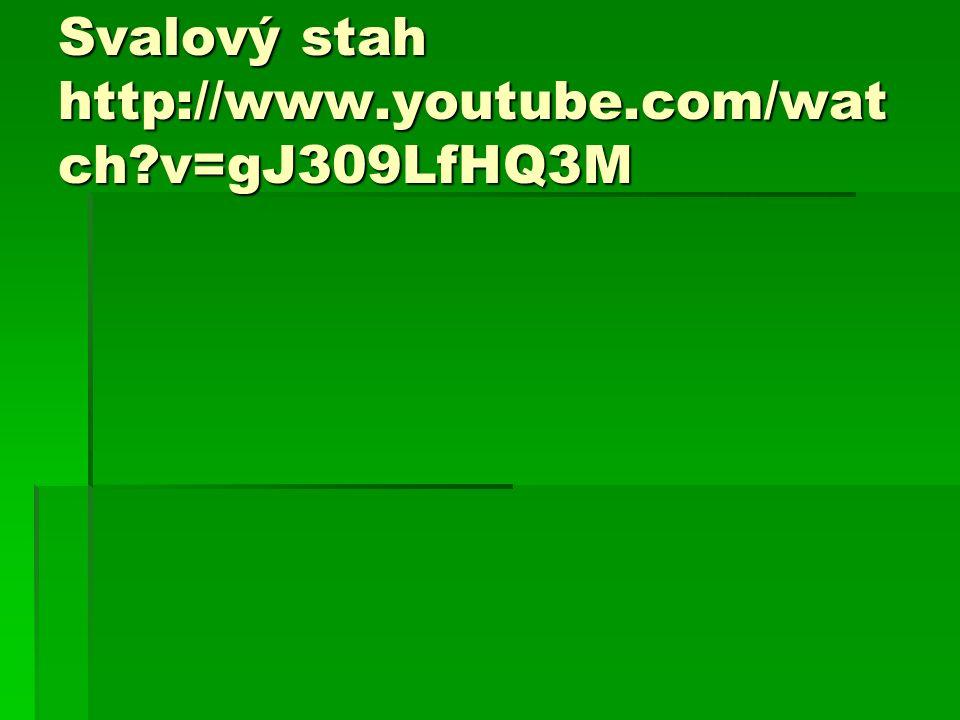 Svalový stah http://www.youtube.com/wat ch v=gJ309LfHQ3M