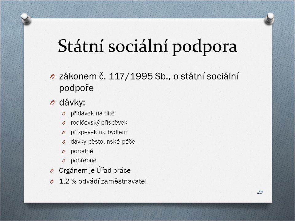 Státní sociální podpora O zákonem č.