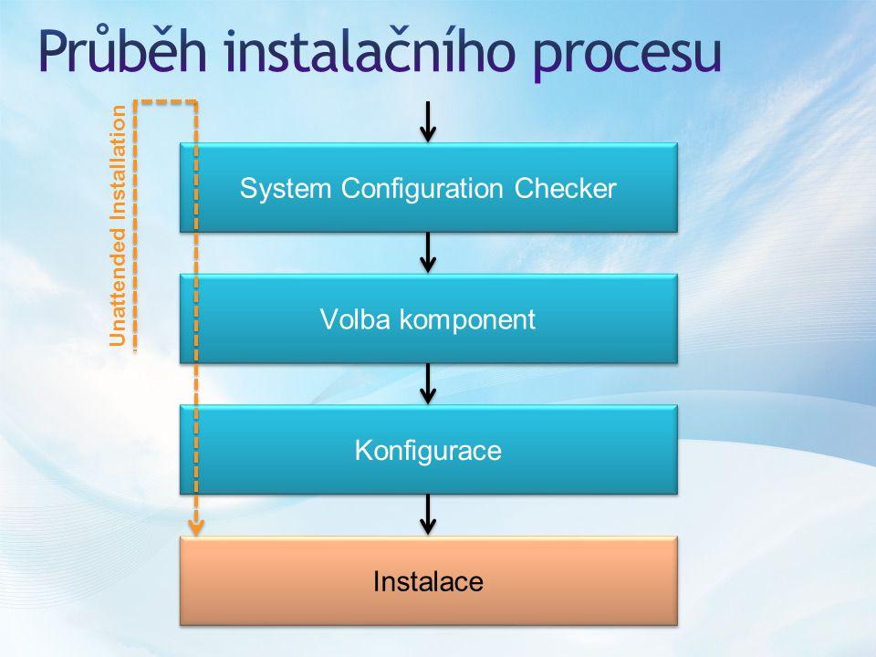 System Configuration Checker Volba komponent Konfigurace Instalace Unattended Installation