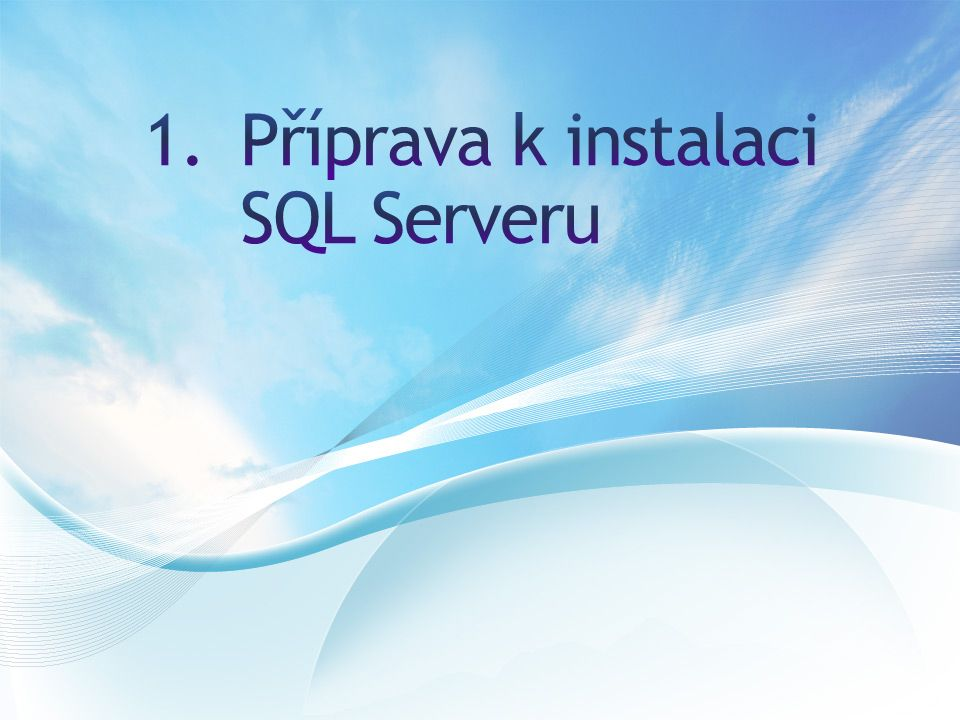 1.S pomocí návodu na: http://msdn.microsoft.com/en- us/library/ms144259(v=sql.110).aspx proveďte bezobslužnou instalaci za pomoci vygenerovaného.INI souboru.