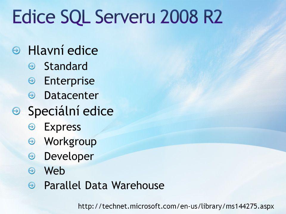 Nástroj pro správu SQL Serveru a současně pro vývoj databází Centrální správa všech komponent SQL Serveru Grafické prostředí, SQL server reprezentován jako strom objektů