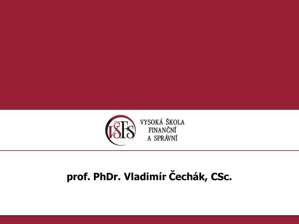 1.1. prof. PhDr. Vladimír Čechák, CSc.