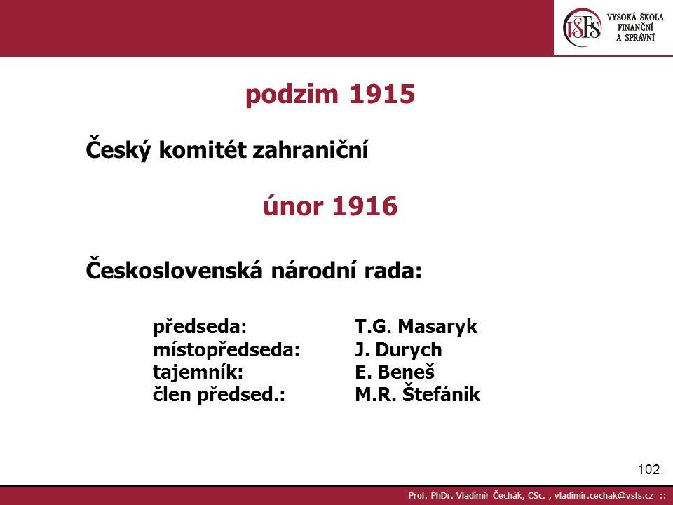 102. Prof. PhDr.