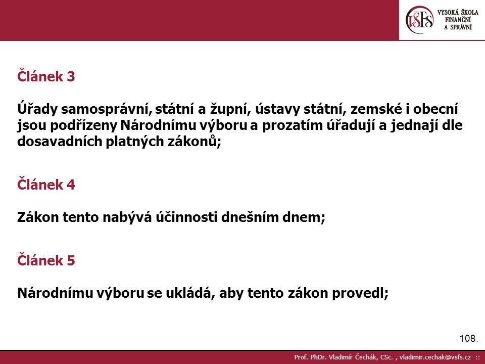 108. Prof. PhDr.