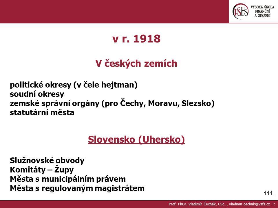 111. Prof. PhDr. Vladimír Čechák, CSc., vladimir.cechak@vsfs.cz :: v r.