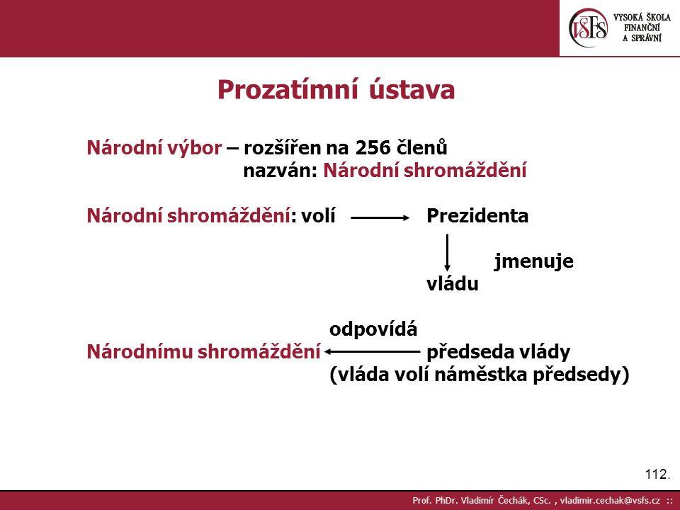 112. Prof. PhDr.