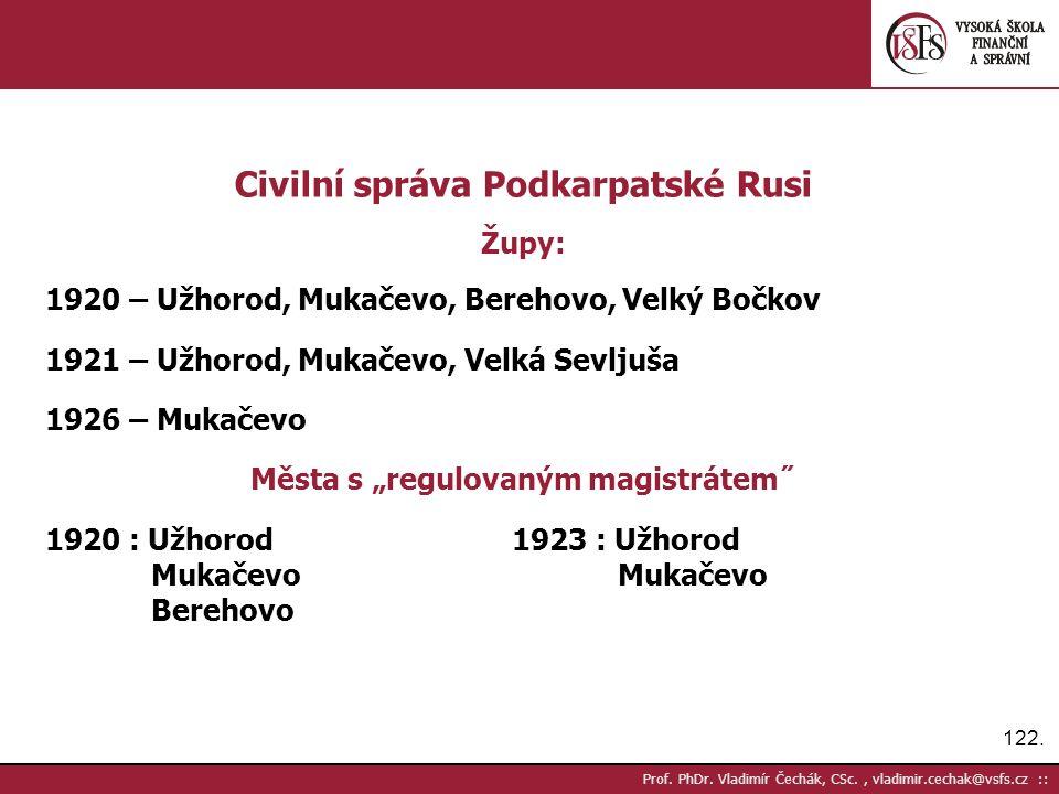 122. Prof. PhDr.