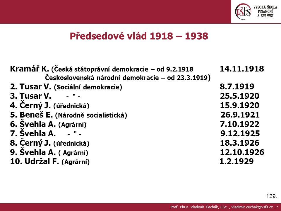 129. Prof. PhDr.