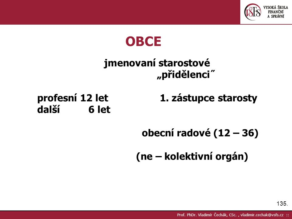 135. Prof. PhDr.