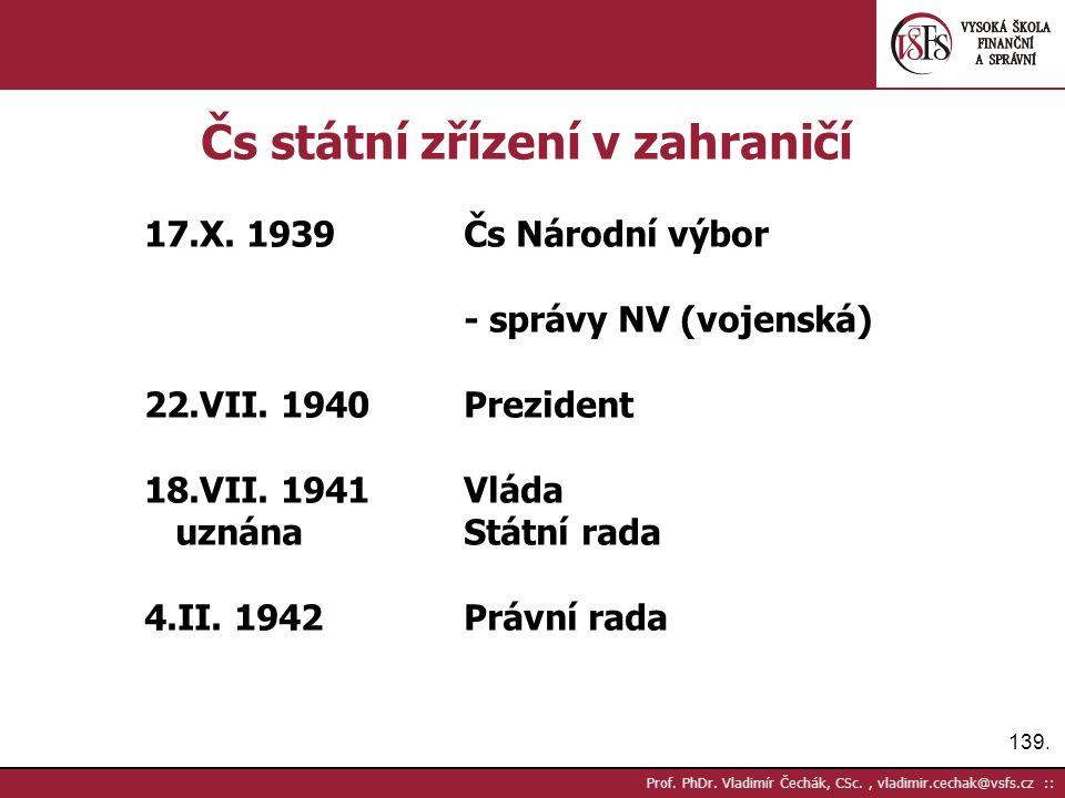 139. Prof. PhDr.