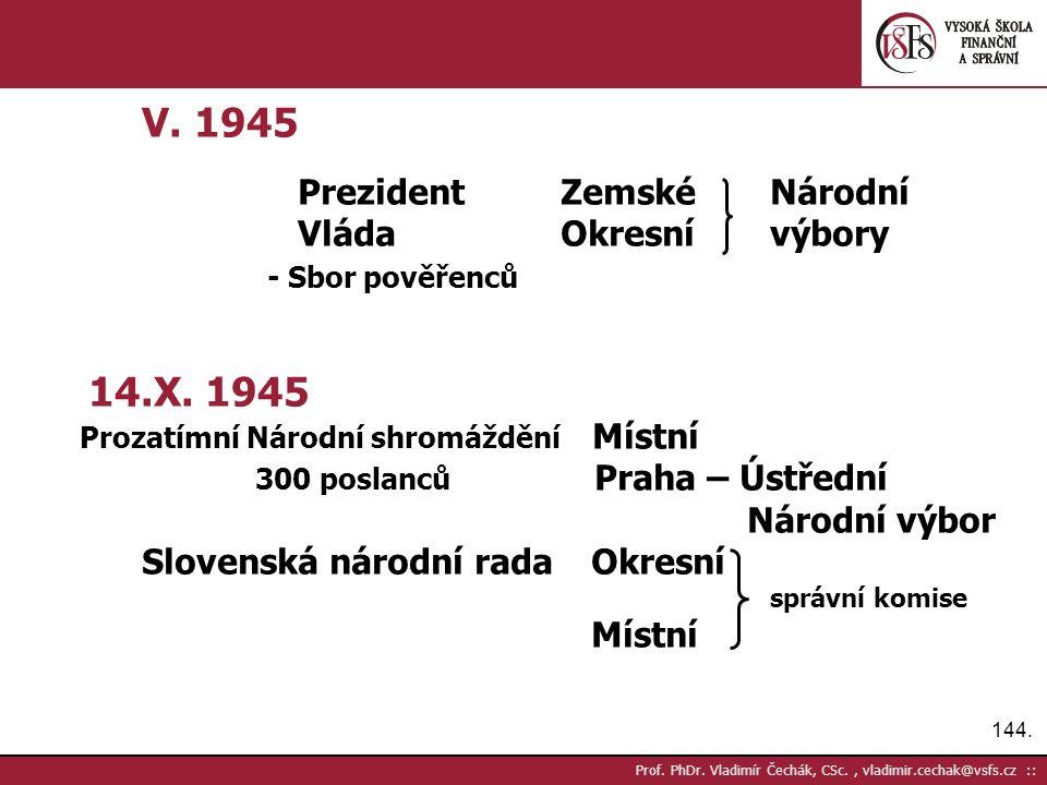 144. Prof. PhDr. Vladimír Čechák, CSc., vladimir.cechak@vsfs.cz :: V.
