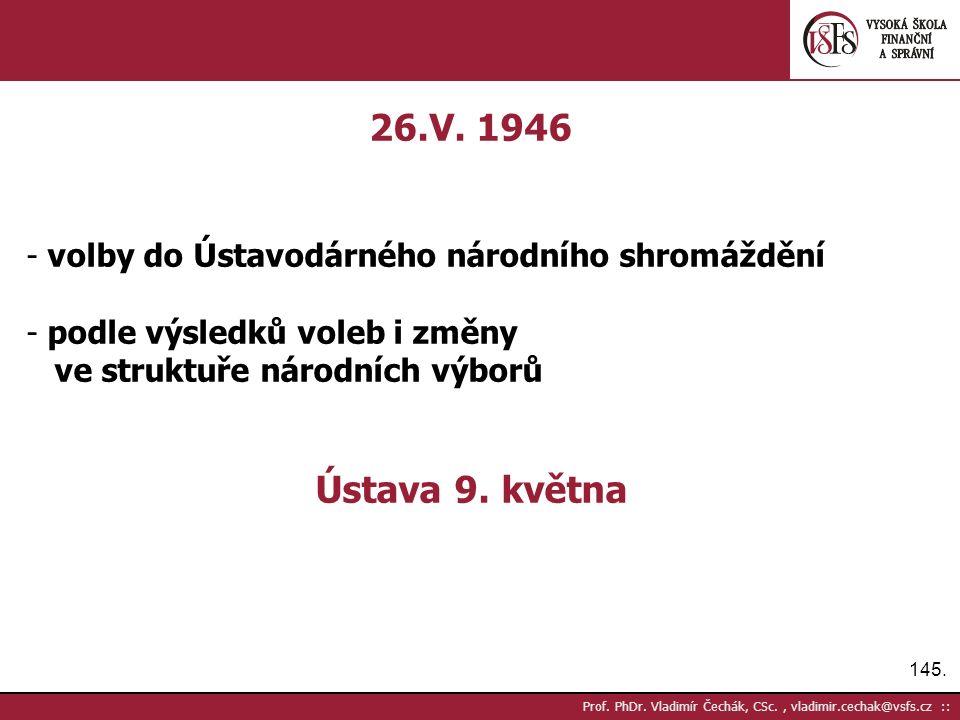 145. Prof. PhDr. Vladimír Čechák, CSc., vladimir.cechak@vsfs.cz :: 26.V.