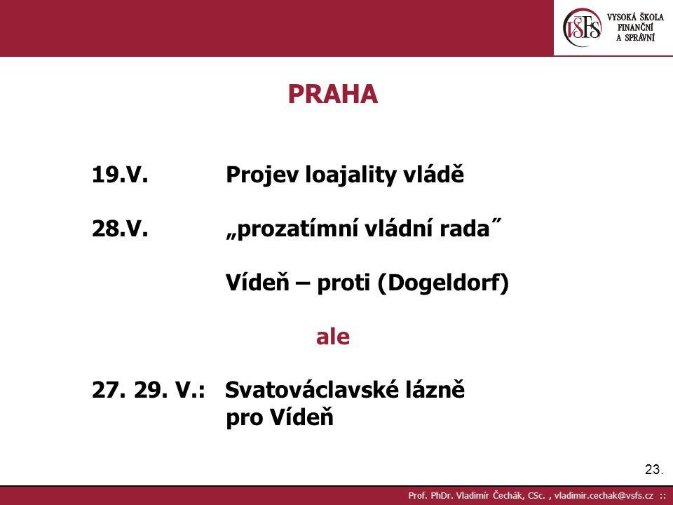 23. Prof. PhDr.