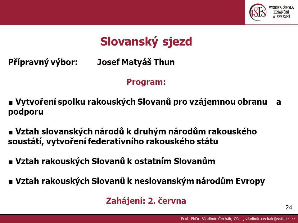 24. Prof. PhDr.