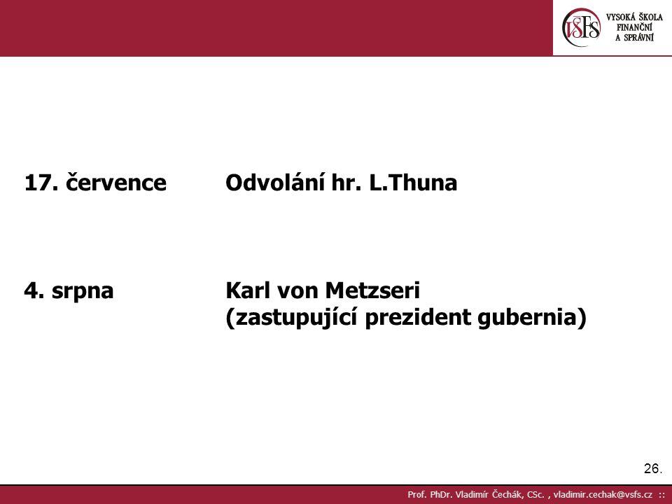 26. Prof. PhDr. Vladimír Čechák, CSc., vladimir.cechak@vsfs.cz :: 17.