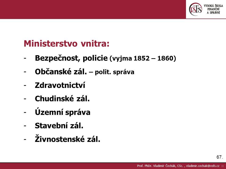 67. Prof. PhDr.