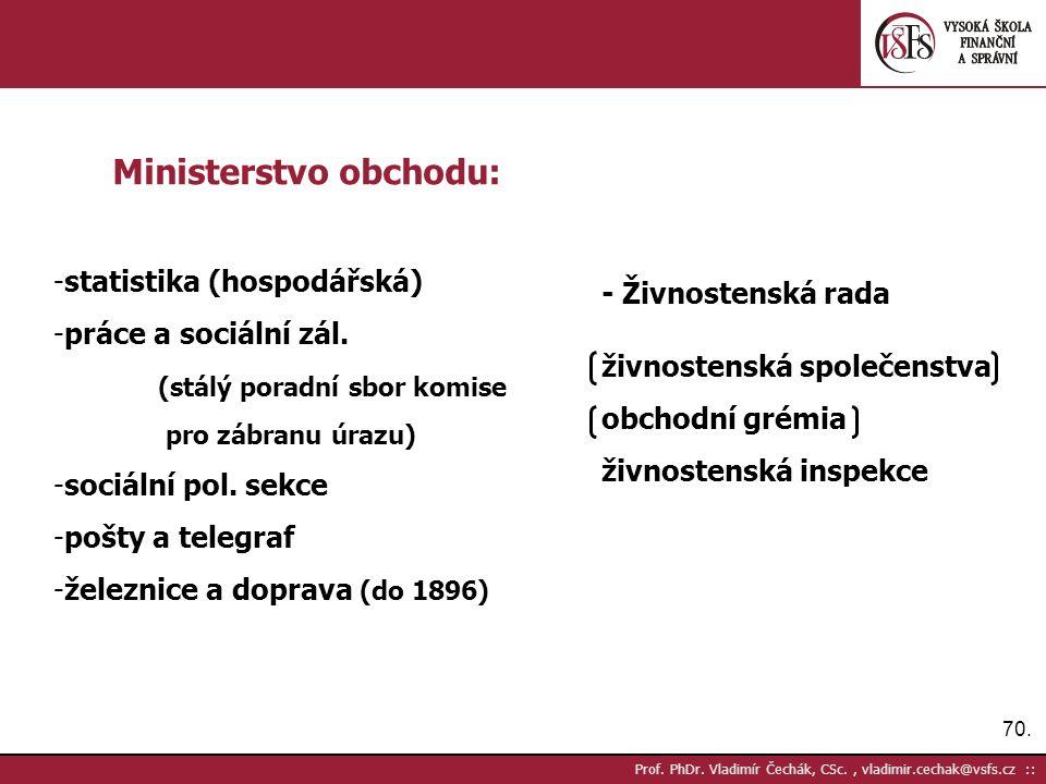 70. Prof. PhDr.