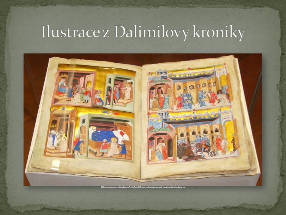 http://commons.wikimedia.org/wiki/File:Dalimilova_kronika_parizsky_fragment.jpg uselang=cs