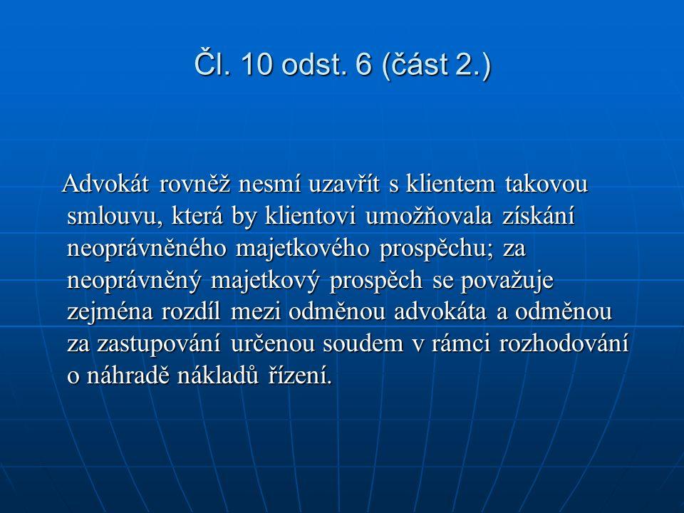 Čl. 10 odst.