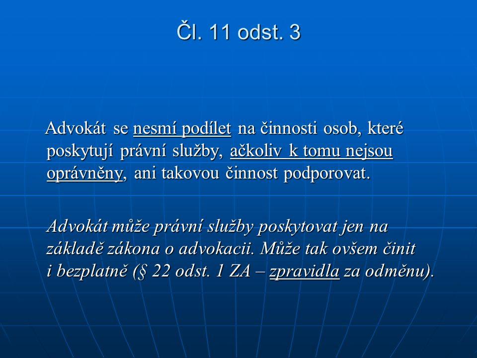 Čl. 11 odst.