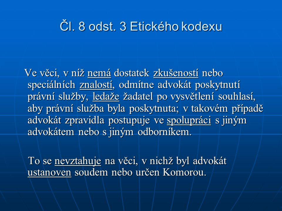 Čl. 8 odst.