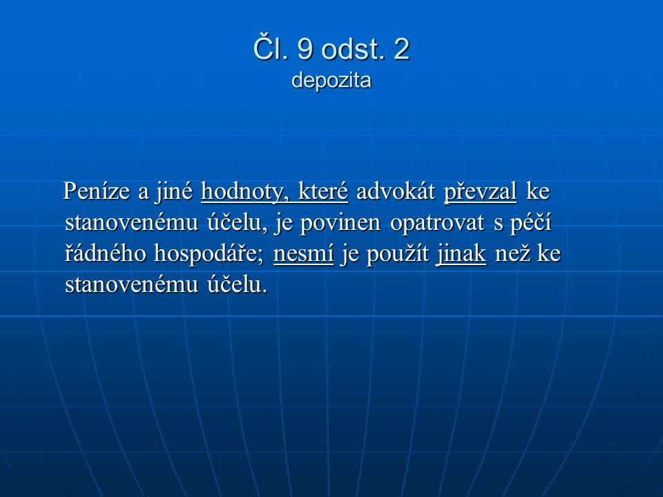 Čl. 9 odst.