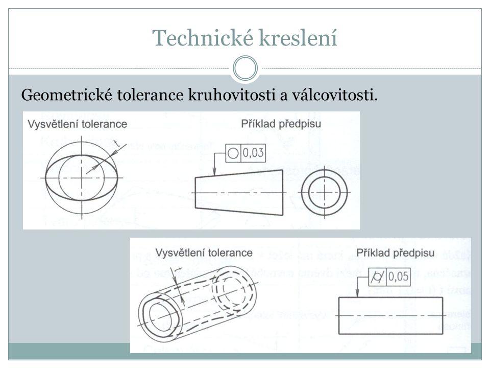 Technické kreslení Geometrické tolerance kruhovitosti a válcovitosti.