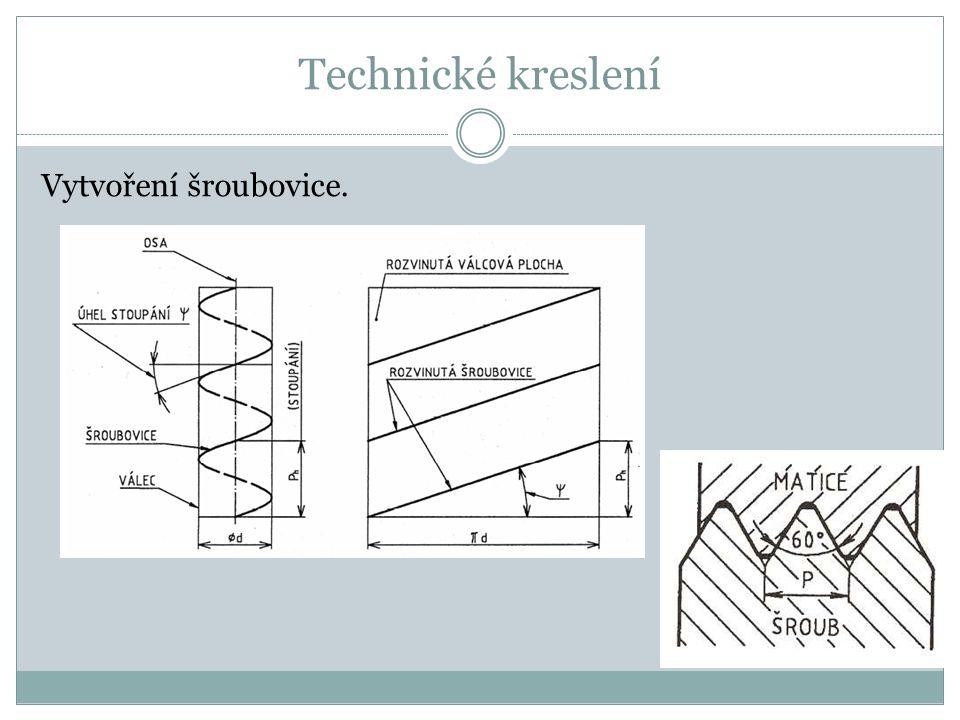 Technické kreslení Vytvoření šroubovice.