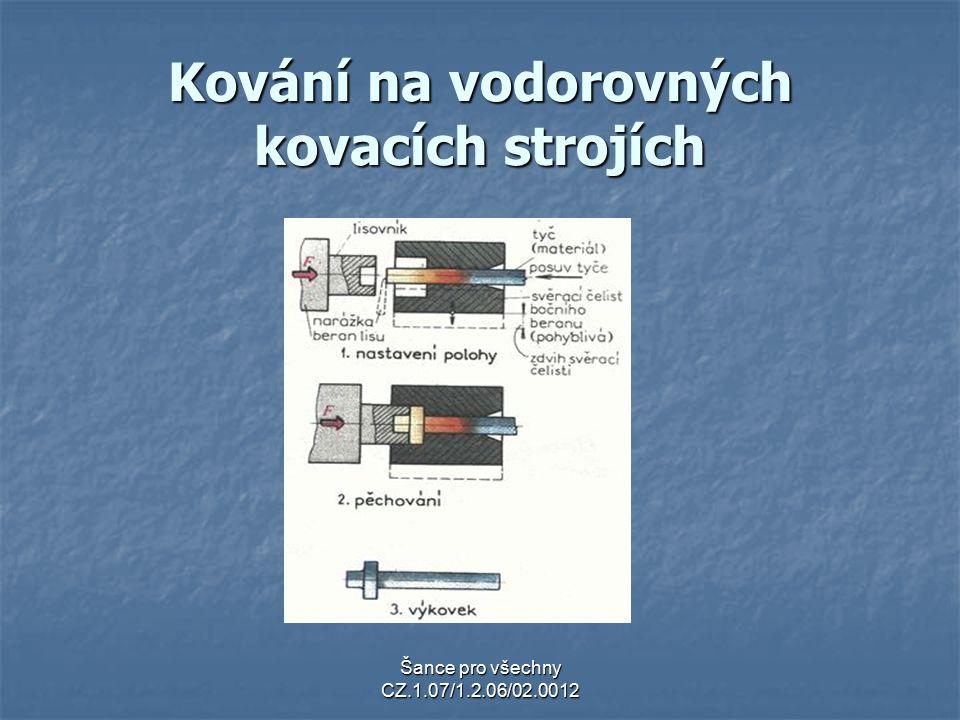 Kování na vodorovných kovacích strojích