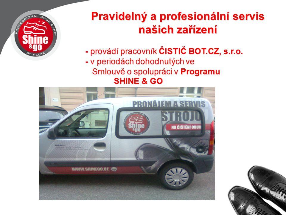 Pravidelný a profesionální servis našich zařízení - provádí pracovník ČISTIČ BOT.CZ, s.r.o.
