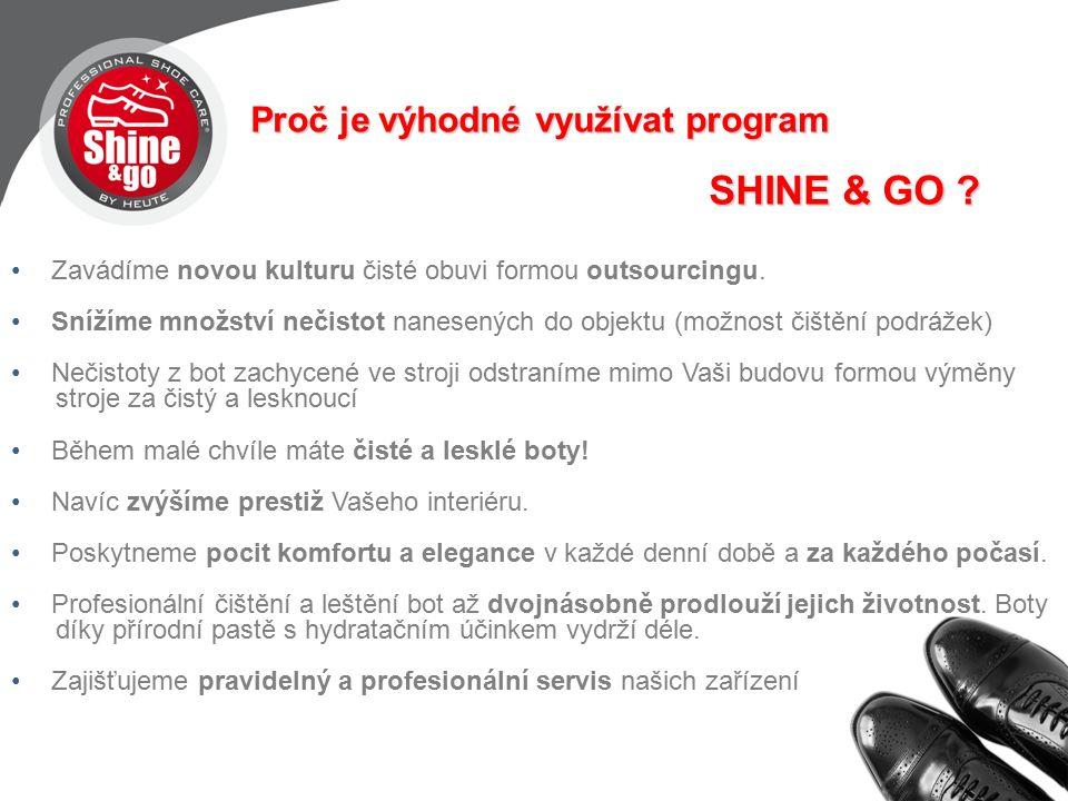 Proč je výhodné využívat program SHINE & GO .