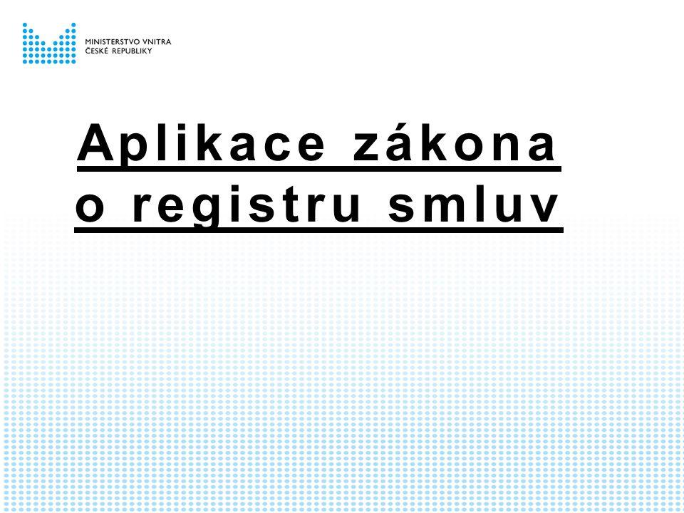 Aplikace zákona o registru smluv