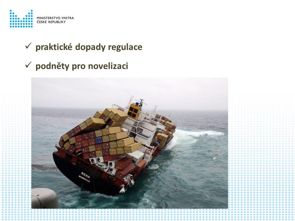 praktické dopady regulace podněty pro novelizaci