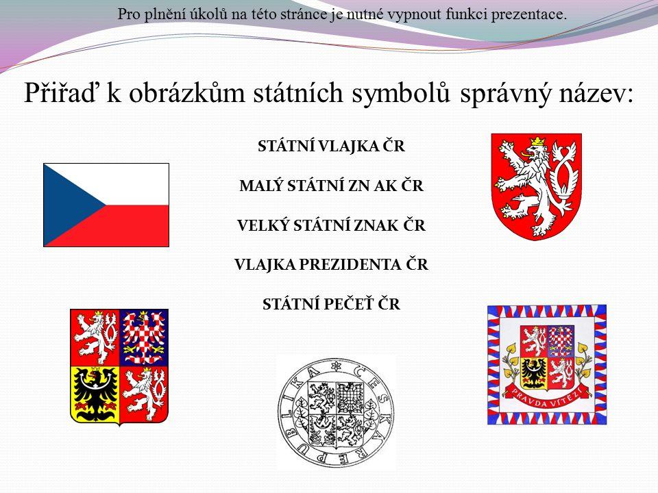 Státní hymna České republiky: