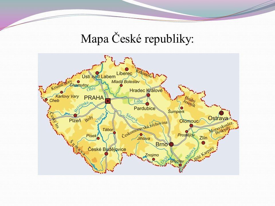 Mapa České republiky: