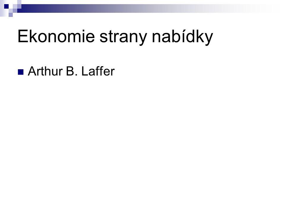 Ekonomie strany nabídky Arthur B. Laffer