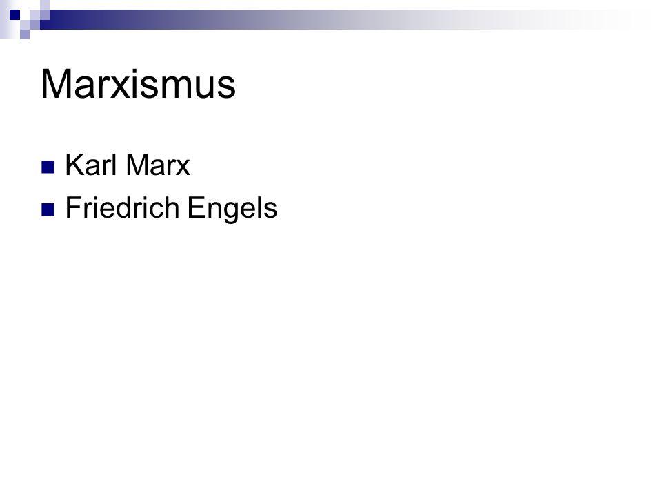 Marxismus Karl Marx Friedrich Engels