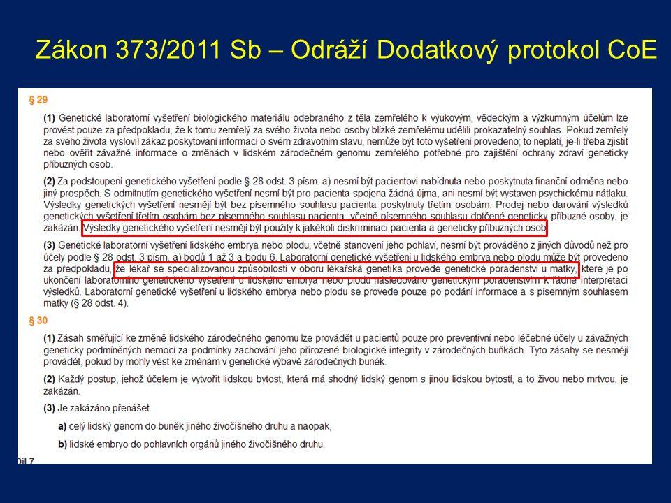 Zákon 373/2011 Sb – Odráží Dodatkový protokol CoE