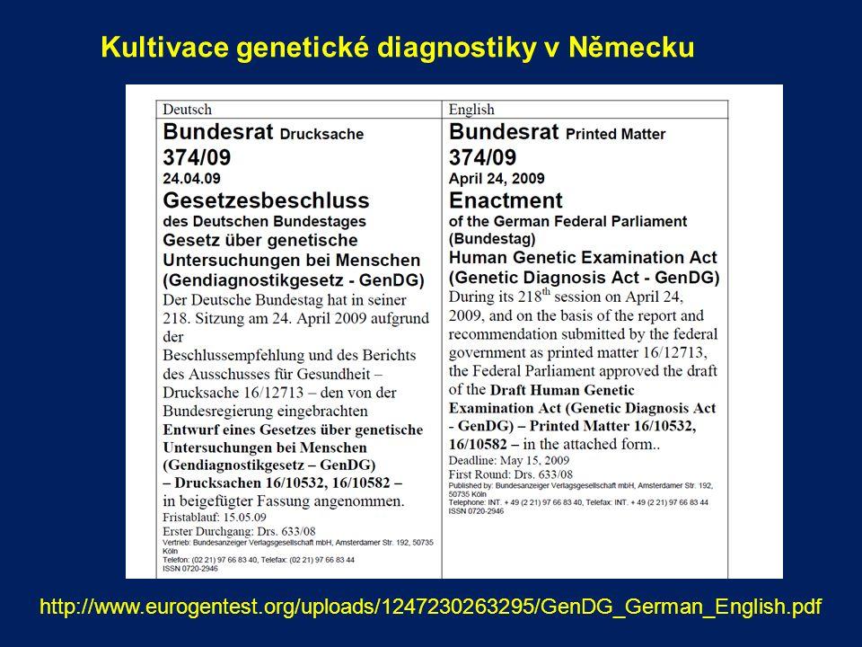 Indikační kritéria pro genetické testování