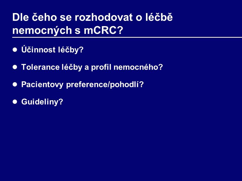 Dle čeho se rozhodovat o léčbě nemocných s mCRC. Účinnost léčby.