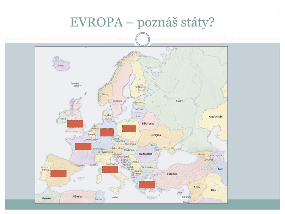 EVROPA – poznáš státy?