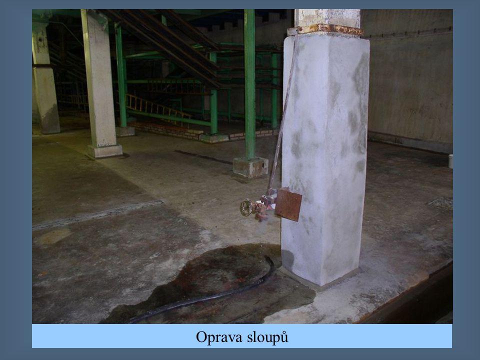 Vyplnění prostupu podlahou - plastbeton