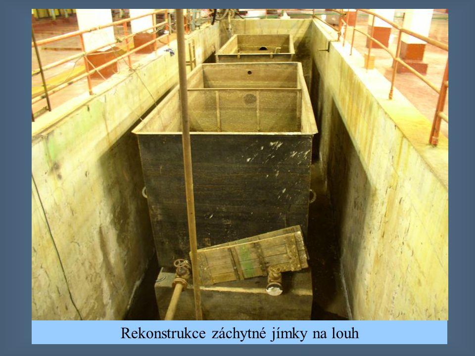 Rekonstrukce záchytné jímky na louh